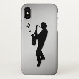 Funda Para iPhone X Jugador de saxofón