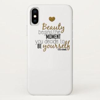 Funda Para iPhone X La belleza comienza
