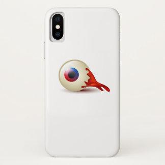 Funda Para iPhone X La bola asustadiza Halloween del ojo calcula