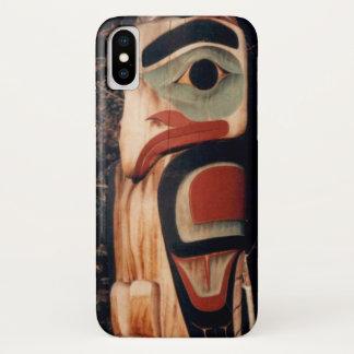 Funda Para iPhone X La foto de Alaska del tótem diseñó el iPhone X