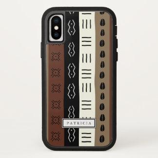 Funda Para iPhone X La impresión terrosa del fango raya personalizado