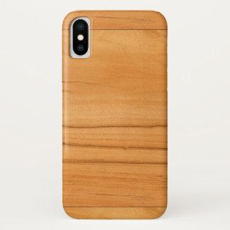 Funda Para iPhone X La mirada de la textura del grano de madera de