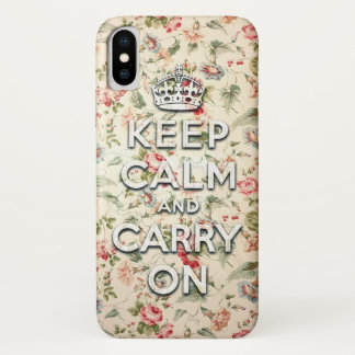 Funda Para iPhone X La moda lamentable guarda calma y continúa