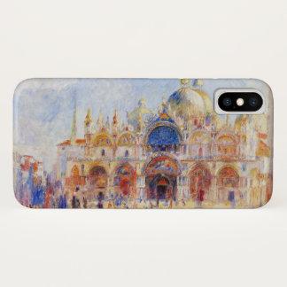 Funda Para iPhone X La plaza San Marco, Venecia por Renoir