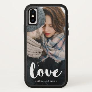 Funda Para iPhone X La tipografía de moda del amor con añade la foto y