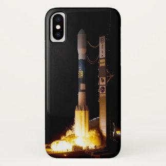 Funda Para iPhone X Lanzamiento de Rocket de espacio de la noche