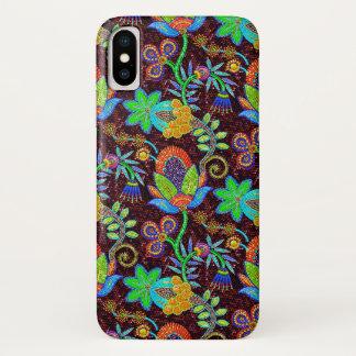 Funda Para iPhone X Las cuentas de cristal coloridas miran el