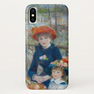 Funda Para iPhone X Las dos hermanas en la terraza por Renoir