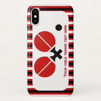 Funda Para iPhone X Las estafas y la bola de tenis de mesa se