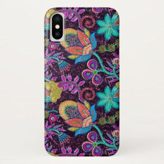 Funda Para iPhone X Las falsas cuentas de cristal coloridas miran