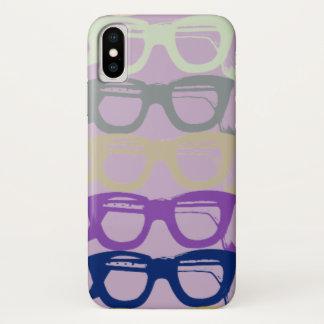 Funda Para iPhone X Las lentes refrescan las gafas de seguridad
