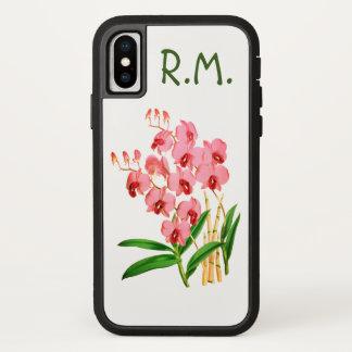 Funda Para iPhone X Las orquídeas rosadas exóticas personalizaron la