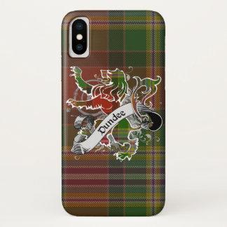 Funda Para iPhone X León del tartán de Dundee