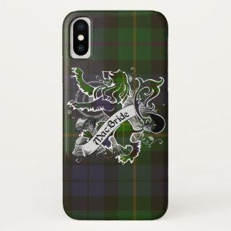 Funda Para iPhone X León del tartán de MacBride