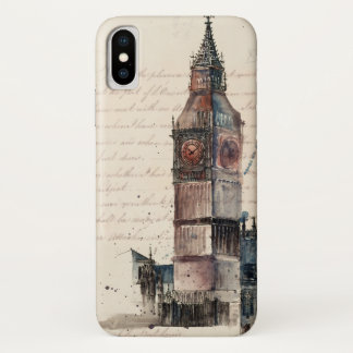 Funda Para iPhone X Letras de Big Ben