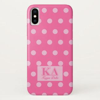 Funda Para iPhone X Letras del rosa del delta de Kappa