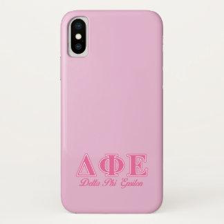 Funda Para iPhone X Letras rosadas épsilones de la phi del delta