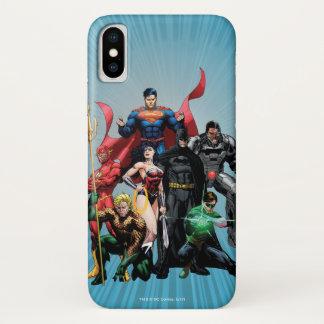Funda Para iPhone X Liga de justicia - grupo 2