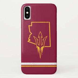 Funda Para iPhone X Logotipo clásico del estado de ASU el |