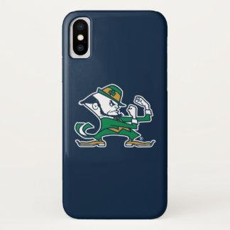 Funda Para iPhone X Logotipo irlandés del Leprechaun de Notre Dame que