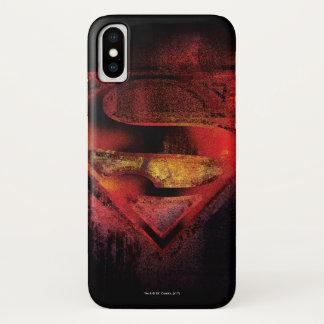 Funda Para iPhone X Logotipo pintado el | del S-Escudo del superhombre