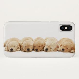 Funda Para iPhone X Los perritos del golden retriever