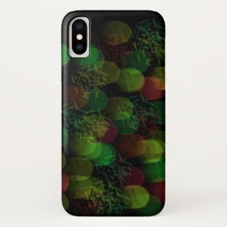 Funda Para iPhone X Luces de neón y chispa verdes y rojas