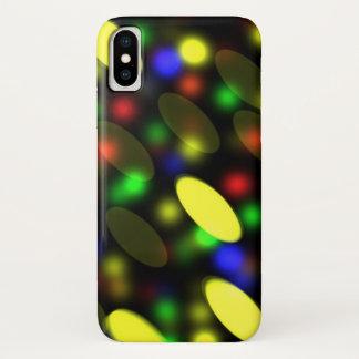 Funda Para iPhone X Luces urbanas de neón de la noche