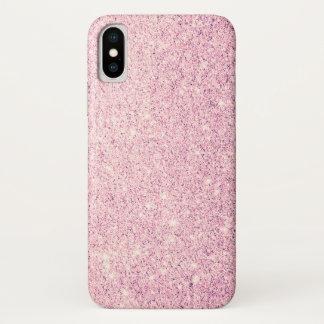 Funda Para iPhone X Lujo rosado elegante del purpurina