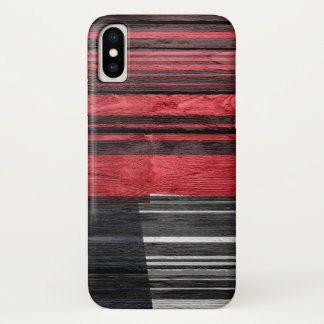 Funda Para iPhone X Madera en colores pastel abstracta