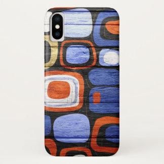 Funda Para iPhone X Madera en colores pastel abstracta moderna