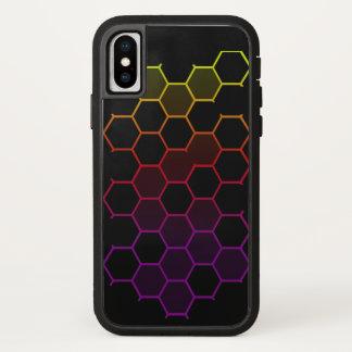 Funda Para iPhone X Maleficio del color en Xtreme duro negro