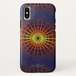 Funda Para iPhone X Mandala del espejo (arco iris)