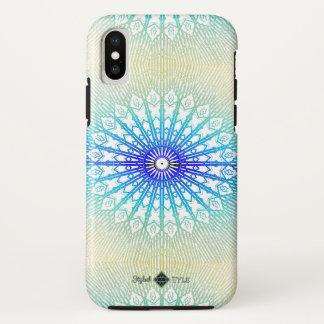 Funda Para iPhone X Mandala del espejo de la sombra (arco iris)