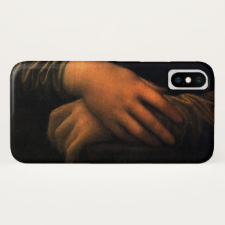 Funda Para iPhone X Manos de Leonardo Mona Lisa