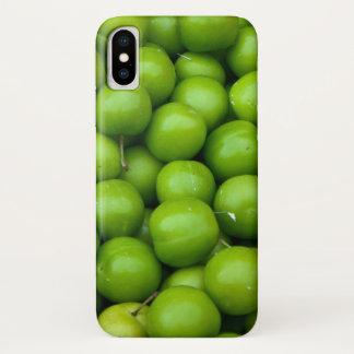 Funda Para iPhone X Manzanas verdes en el modelo de mercado de los