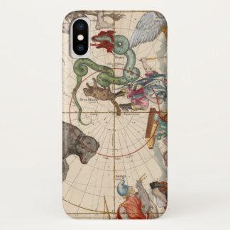 Funda Para iPhone X Mapa del vintage del Polo Norte