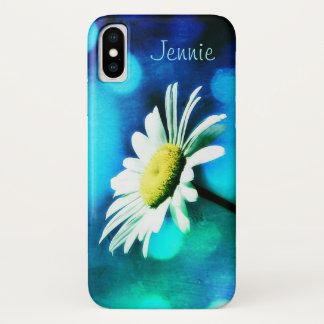 Funda Para iPhone X Margarita en *Personalize* de la turquesa
