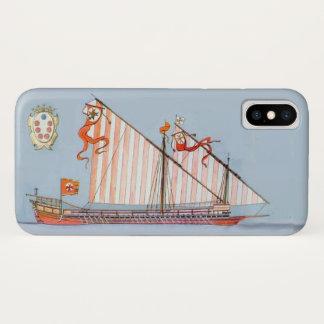 Funda Para iPhone X Marina de guerra Toscana Medici, náutico azul
