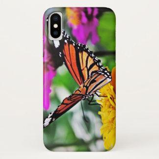 Funda Para iPhone X Mariposa en las flores