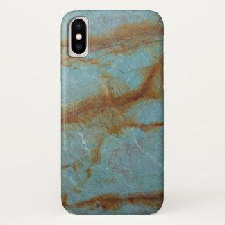 Funda Para iPhone X Mármol azul azul