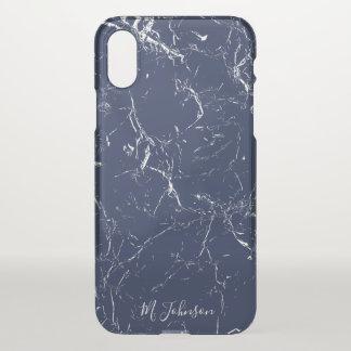 Funda Para iPhone X Mármol azul elegante personalizado
