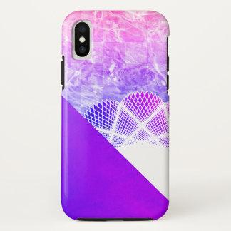 Funda Para iPhone X Mármol moderno púrpura de la lavanda blanca del
