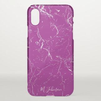Funda Para iPhone X Mármol púrpura elegante personalizado