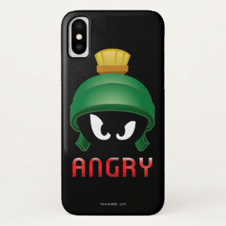 Funda Para iPhone X MARVIN el MARTIAN™ Emoji enojado