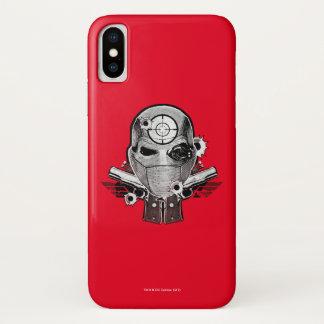 Funda Para iPhone X Máscara del pelotón el | Deadshot del suicidio y