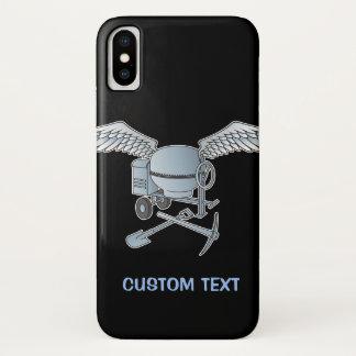 Funda Para iPhone X Mezclador concreto azul-gris