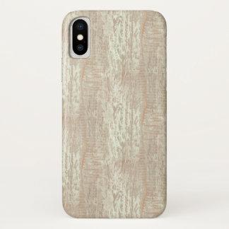 Funda Para iPhone X Mirada costera sometida del grano de madera de