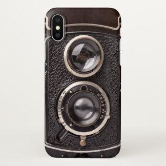 Funda Para iPhone X Mirada de la antigüedad de la cámara del vintage