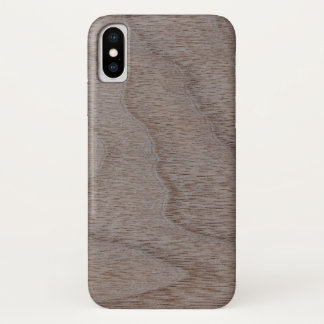 Funda Para iPhone X Mirada de madera del grano de la nuez blanca